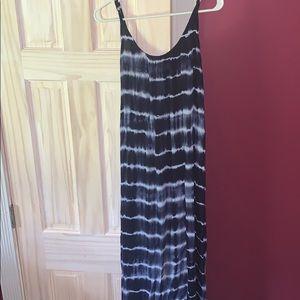 Blue and white maxi dress size medium